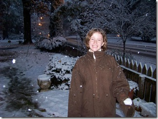 Daughter playing in the snow of Baton Rouge 2008